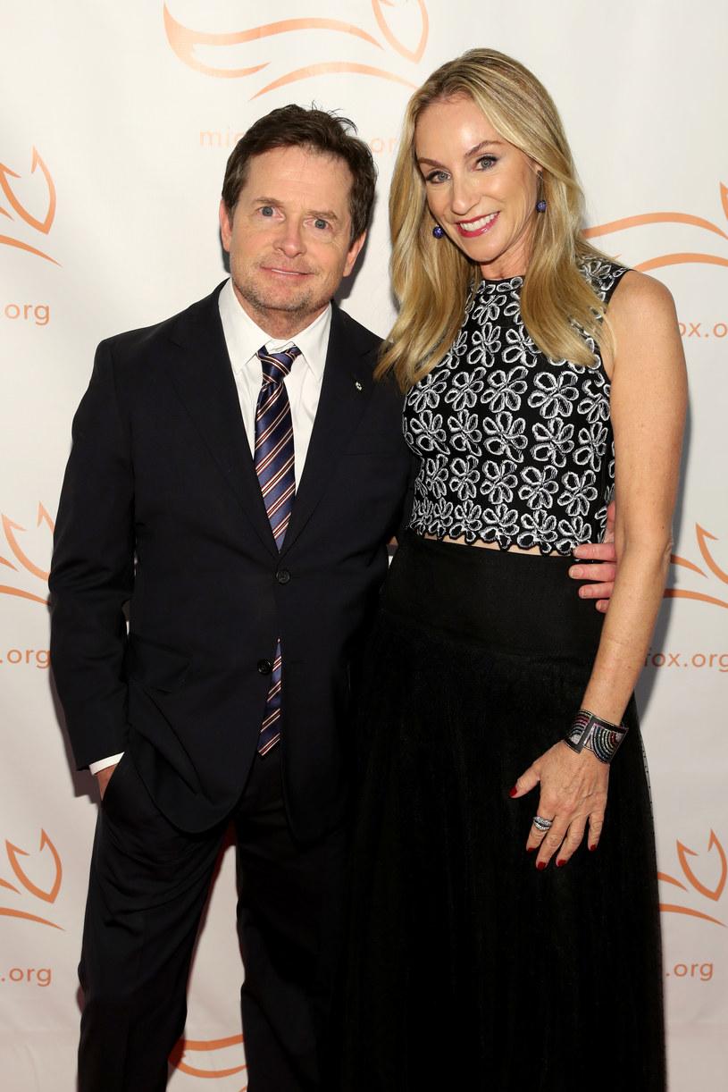 Michael J. Fox z żoną Tracy /Cindy Ord /Getty Images