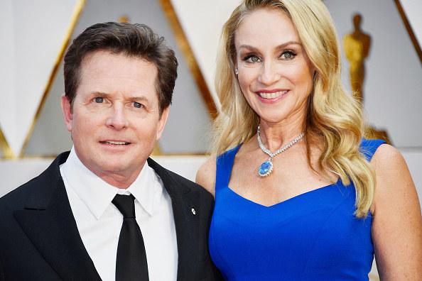 Michael J. Fox z żoną /Frazer Harrison /Getty Images
