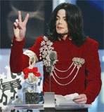 Michael Jackson na rozdaniu nagród MTV /poboczem.pl