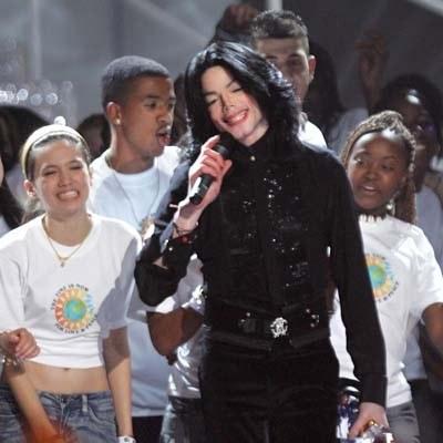 Michael Jackson podczas World Music Awards /arch. AFP