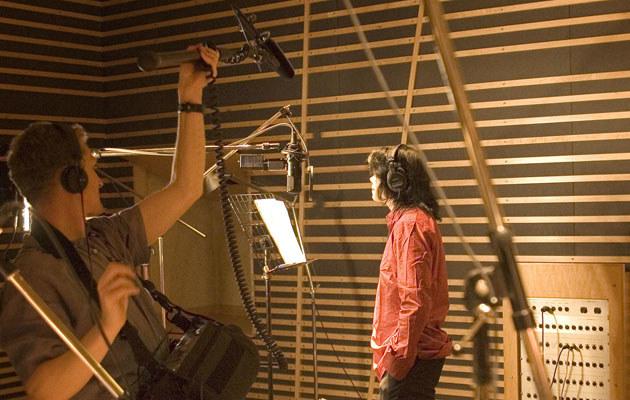 Michael Jackson w londyńskim studio, 2005 r.  /Splashnews