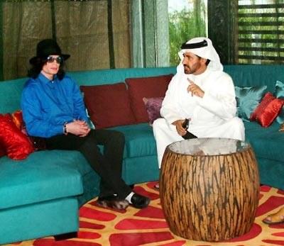 Michael Jackson w towarzystwie księcia Abdullaha /AFP