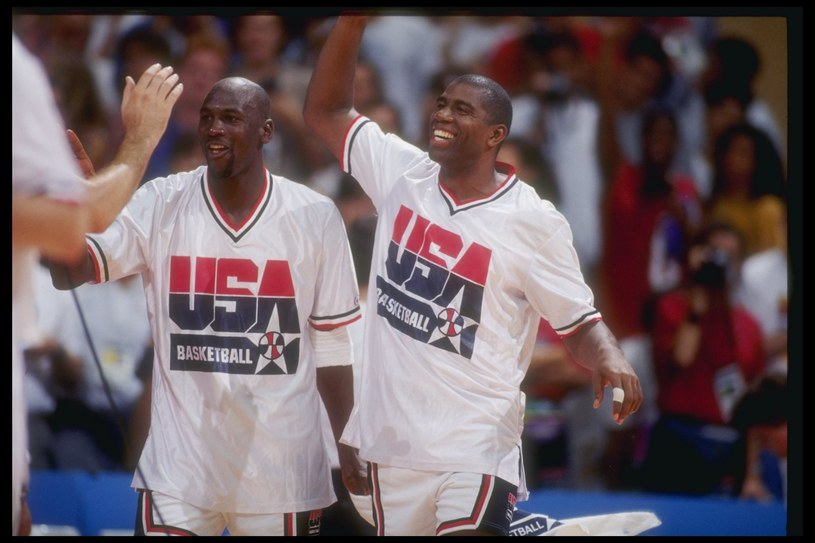 Michael Jordan i Magic Johnson - charyzmatyczni liderzy Dream Teamu /Getty Images
