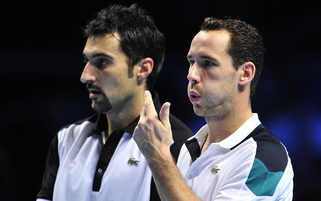 Michael Llodra (z lewej) i Nenad Zimonjic. /AFP