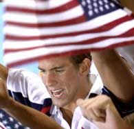 Michael Phelps - amerykański superpływak /AFP