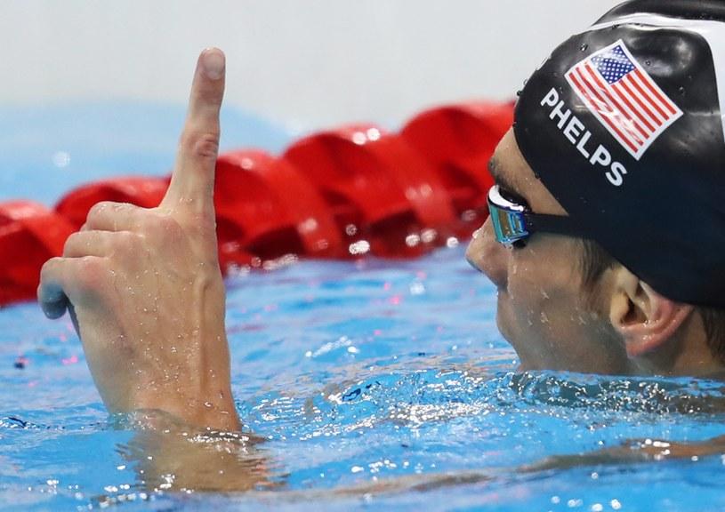 Michael Phelps po zdobyciu 20. olimpijskiego złota /PAP/EPA