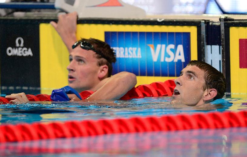 Michael Phelps (z prawej) i Ryan Lochte /AFP