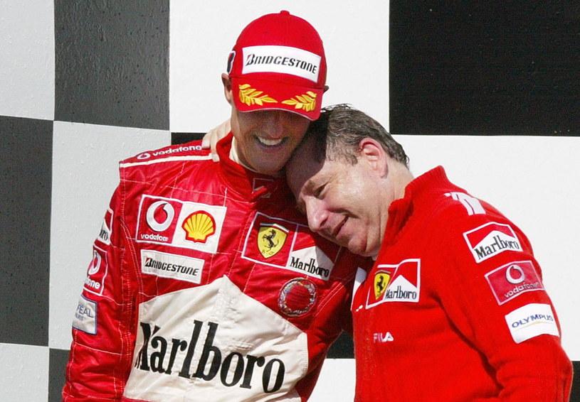 Michael Schumacher i Jean Todt /AFP