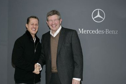 Michael Schumacher i Ross Brawn / kliknij /