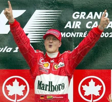 Michael Schumacher na podium GP Kanady (kliknij) /poboczem.pl