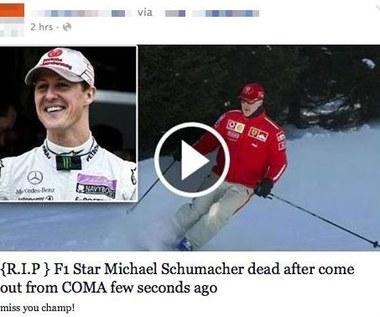 Michael Schumacher nie żyje – kolejna pułapka na Facebooku