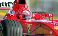 Michael Schumacher testuje opony na torze Fiorano