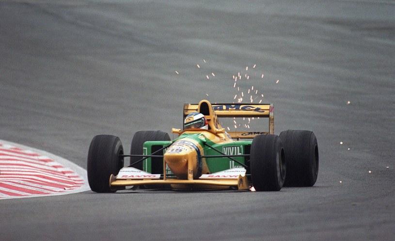 Michael Schumacher w bolidzie Bennetona w 1992 roku /AFP