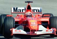 Michael Schumacher w swoim nowym Ferrari