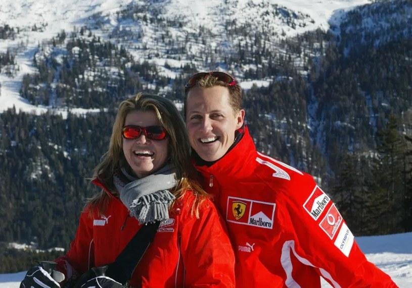 Michael Schumacher z żoną /AFP /AFP