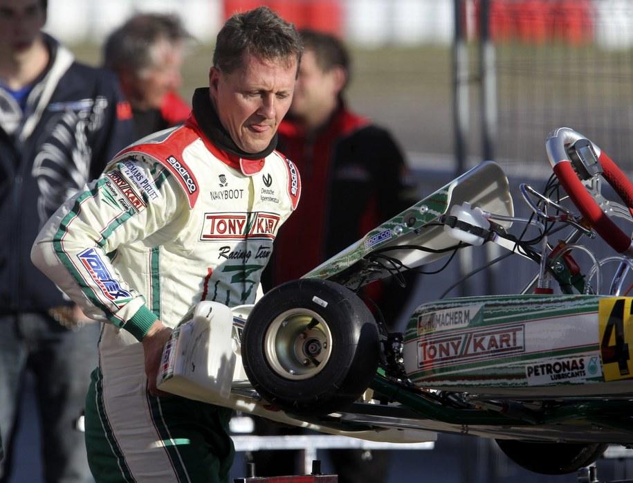 Michael Schumacher. Zdjęcie z marca 2013 roku /JAVIER CEBOLLADA    /PAP/EPA