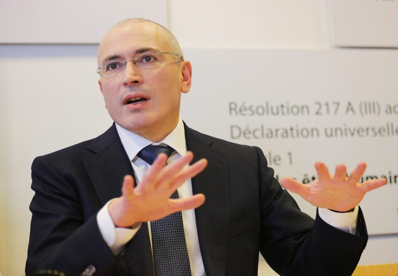 Michaił Chodorkowski w Muzeum Muru Berlińskiego /PAP/EPA