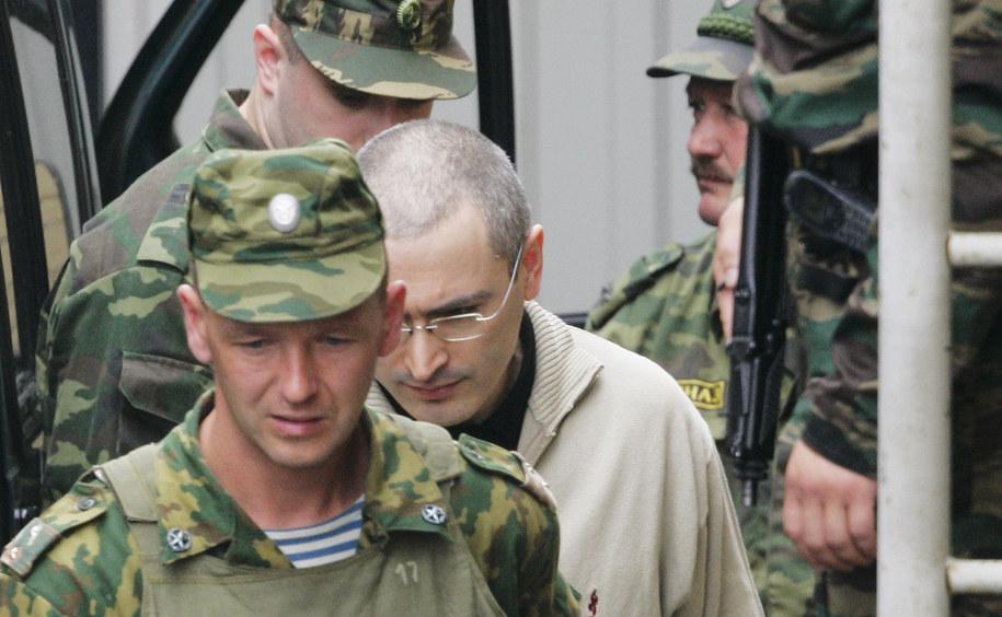 Michaił Chodorskowski jeszcze jako rosyjski więzień /Fyodor Savintsev  /PAP/EPA