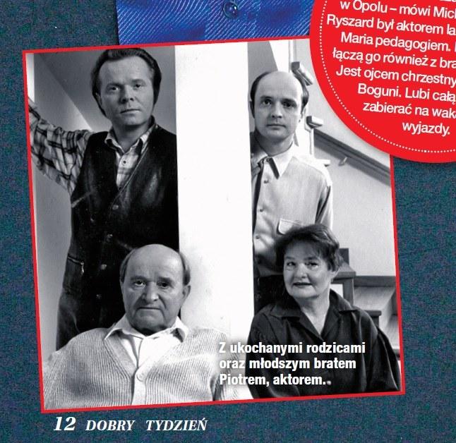 Michał Bajor z rodziną /Dobry Tydzień