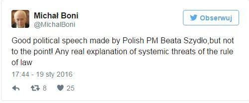 Michał Boni na Twitterze /Twitter