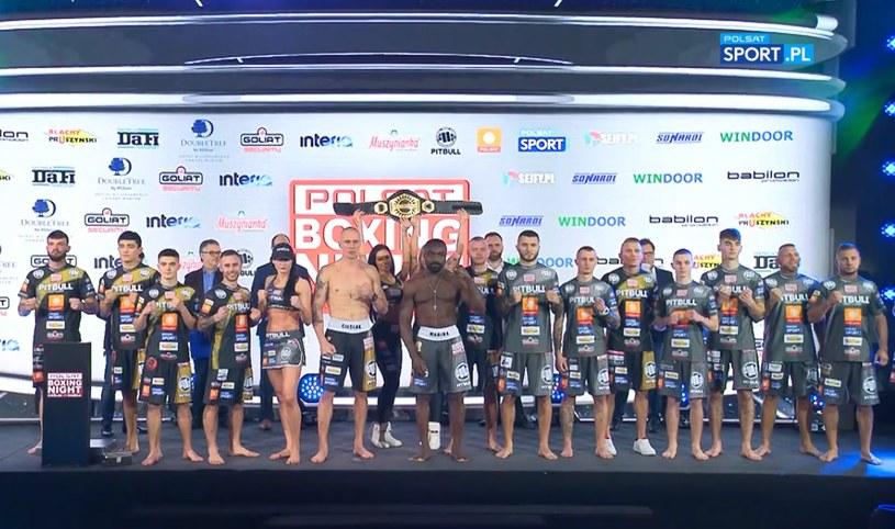 Michał Cieślak - Taylor Mabika i pozostali uczestnicy Polsat Boxing Night. Gala rozpocznie się już dzisiaj o g. 20. Transmisja w Polsacie Sport, a finałowa walka także w Polsacie /INTERIA.PL