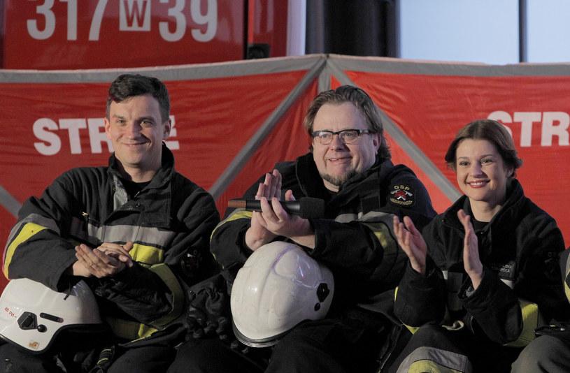 Michał Czarnecki, Olaf Lubaszenko i Marta Ścisłowicz /Krzemiński Jordan /AKPA