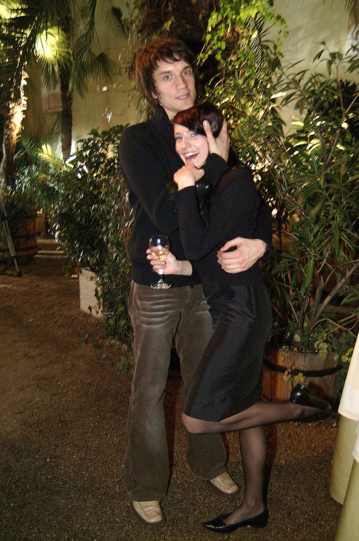 Michał Czernecki z żoną, 2004 rok /Zawada /AKPA