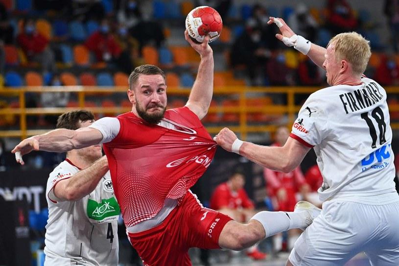 Michał Daszek w meczu reprezentacji Polski /AFP