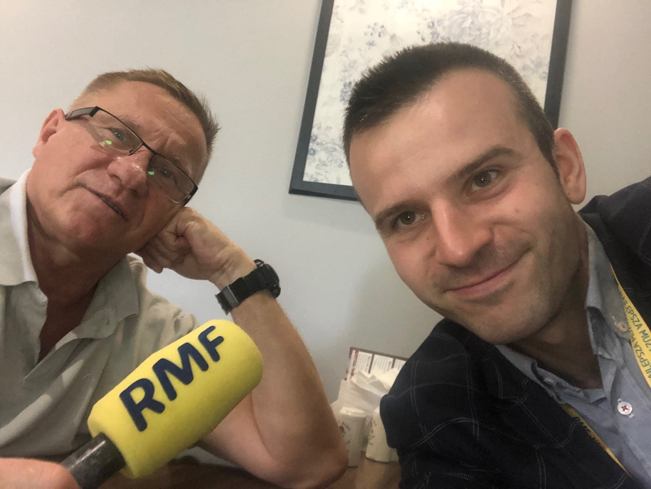 Michał Dobrołowicz rozmawiał z Ryszardem Janikowskim /Michał Dobrołowcz /RMF FM