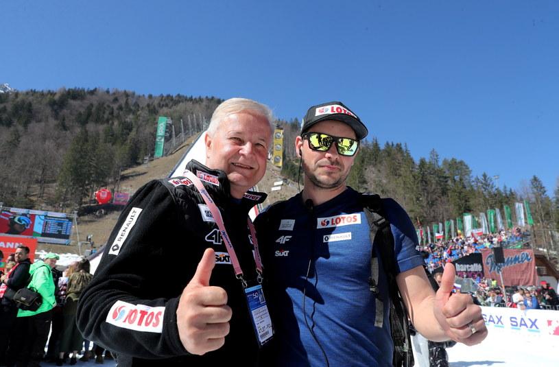 Michal Doleżal (z prawej) i Apoloniusz Tajner w Planicy /Grzegorz Momo /PAP