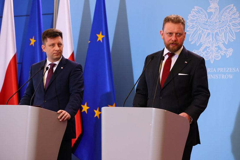 Michał Dworczyk i Łukasz Szumowski /Rafal Gaglewski /Reporter