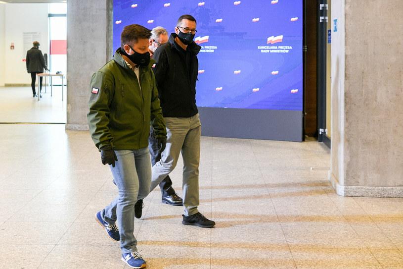 Michał Dworczyk i Mateusz Morawiecki (arch.) /Jacek Domiński /Reporter