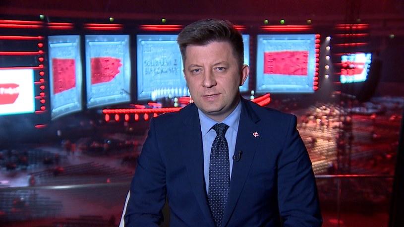 """Michał Dworczyk w """"Gościu Wydarzeń"""" /Polsat News"""