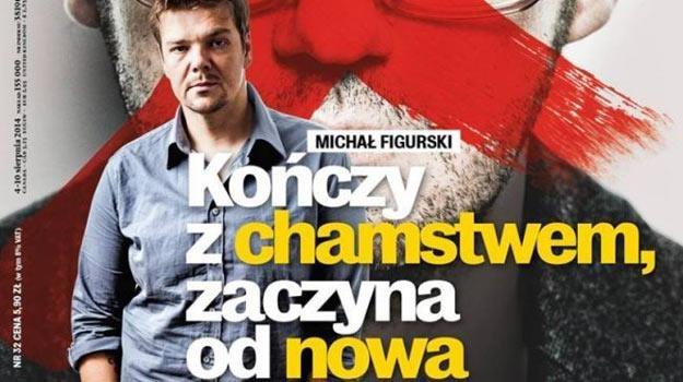 """Michał Figurski na okładce """"Wprost"""" /"""