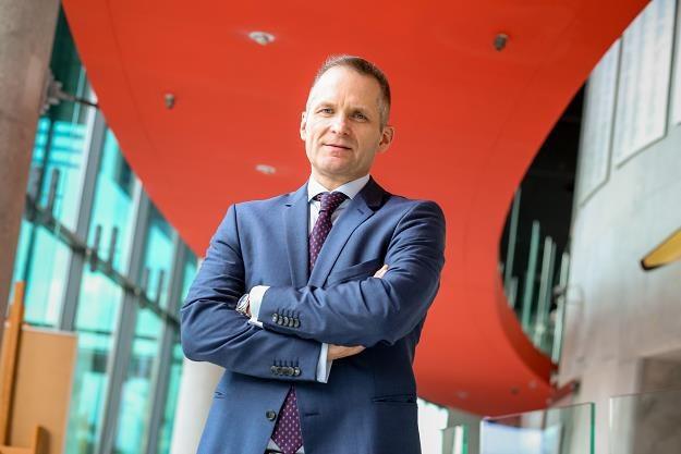 "Michał  Gajewski, prezes Santander Bank Polska. Fot. MAREK WISNIEWSKI ""Puls Biznesu"" /FORUM"