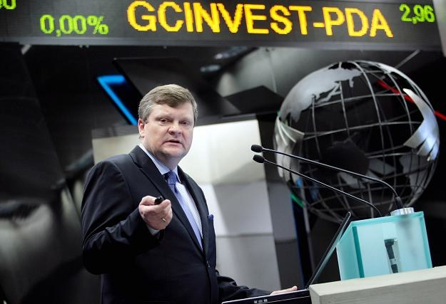 Michał Goli, prezes GC Investment, w czasie edbiutu na NewConnect /PAP