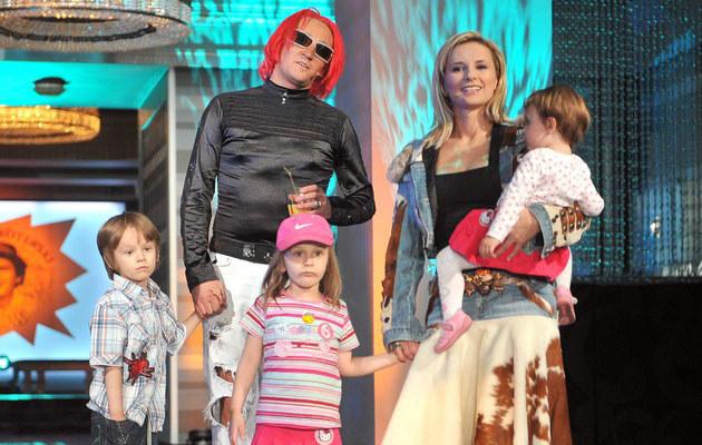Michał i Ania Wiśniewscy z Xavierem, Fabienne i Etiennette, fot. Kurnikowski  /AKPA