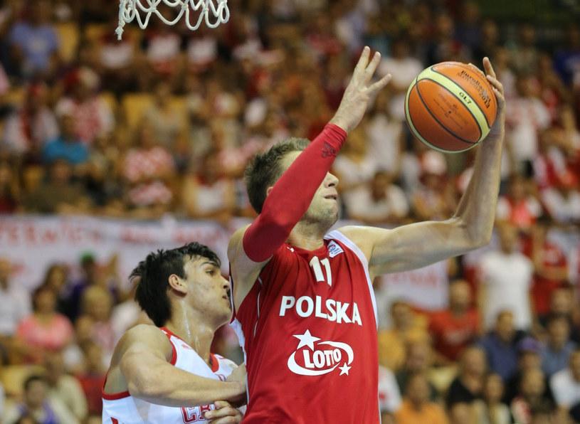 Michał Ignerski podczas meczu z Chorwacją /PAP/EPA