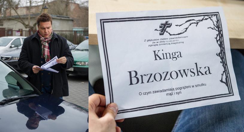 Michał jest w szoku, kiedy odkrywa, że ktoś podrzucił mu... klepsydrę Kingi! /x-news/ Radek Orzeł /TVN