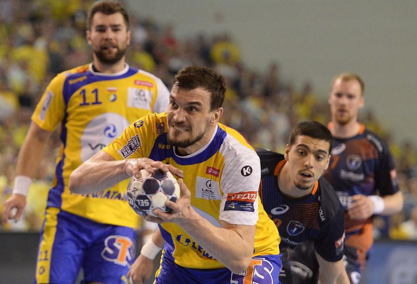 Michał Jurecki w meczu z Montpellier HB /Fot. Piotr Polak /PAP