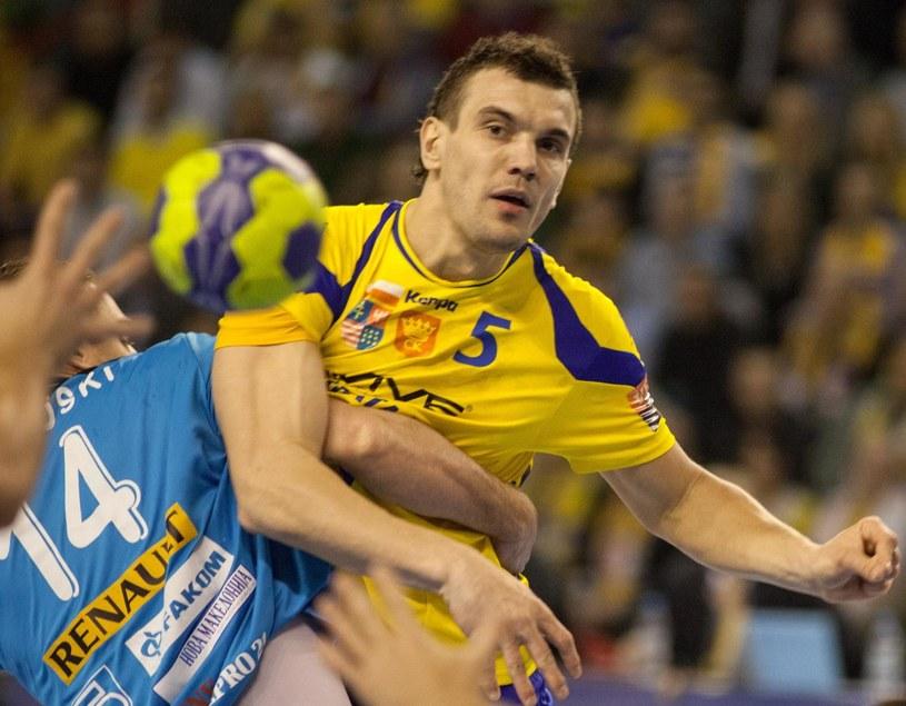 Michał Jurecki zdobył sześć goli w meczu z Metalurgiem Skopje /Fot. Michał Walczak /PAP