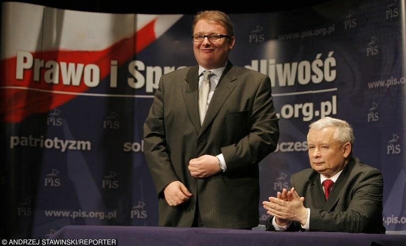 Michał Kamiński i Jarosław Kaczyński, zdjęcie z 2009 roku /Andrzej Stawiński /East News