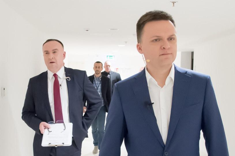 Michał Kobosko (z lewej) głównym kandydatem na szefa sztabu wyborczego Szymona Hołowni /Wojciech Stróżyk /Reporter
