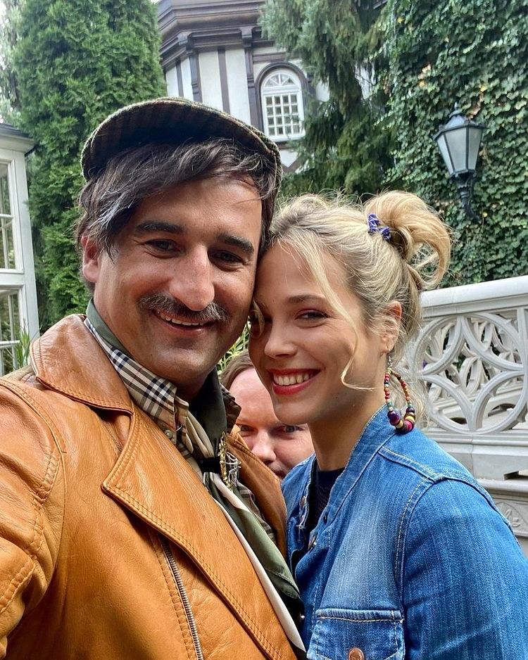 Michał Koterski i Dagmara Bryzek pozowali razem na planie filmowym /Instagram / misiekkoterski /Instagram