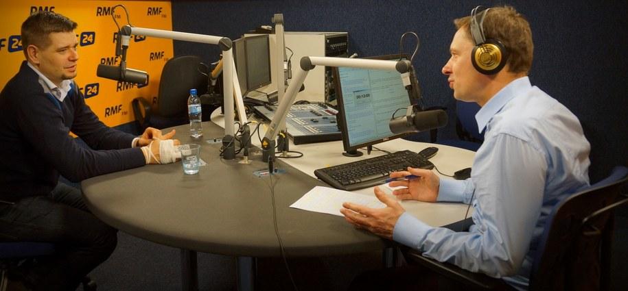 Michał Królikowski i Krzysztof Ziemiec /Michał Dukaczewski /RMF FM