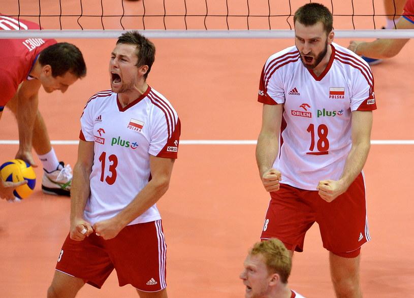 Michał Kubiak i Marcin Możdżonek (z prawej) /Adam Warżawa /PAP