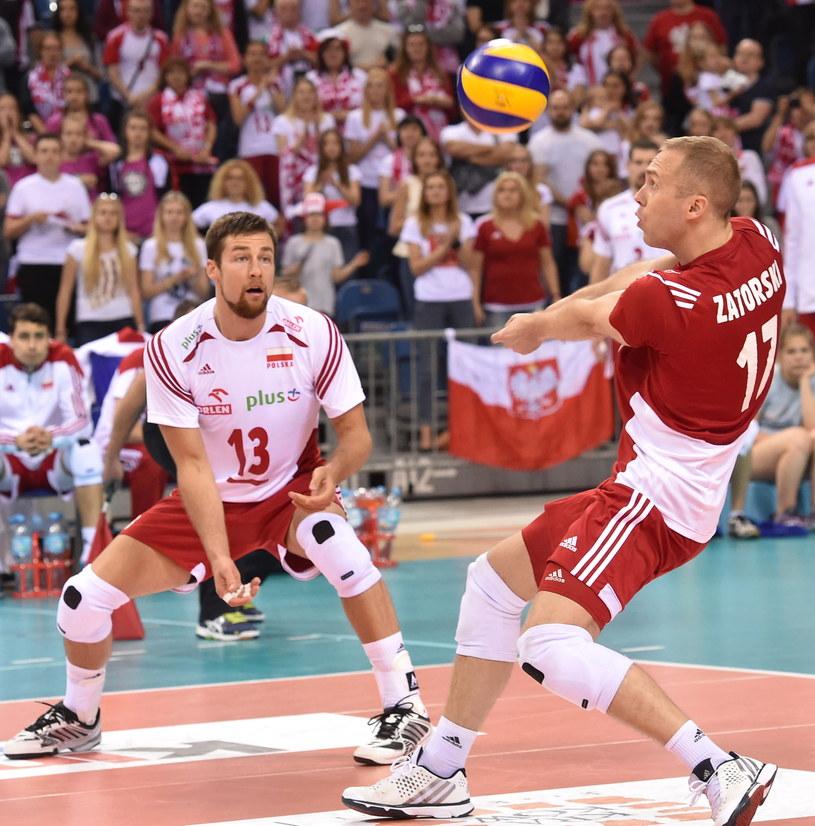 Michał Kubiak i Paweł Zatorski w meczu z Serbią /fot. Jacek Bednarczyk /PAP