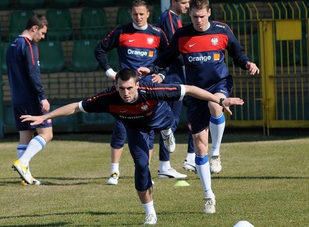 Michał Kucharczyk podczas treningu reprezentacji Polski  fot: Jakub Kaczmarczyk /PAP