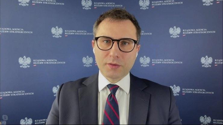Michał Kuczmierowski, prezes Rządowej Agencji Rezerw Strategicznych /Polsat News