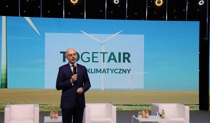 Michał Kurtyka, minister klimatu i środowiska podczas szczytu klimatycznego Togetair 2021 /Fot. Szymon Wojtyszyn /Źródło: lasy.gov /